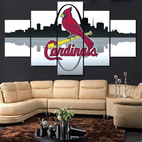 home decor st louis large framed st louis cardinals canvas print home decor wall five posters prints