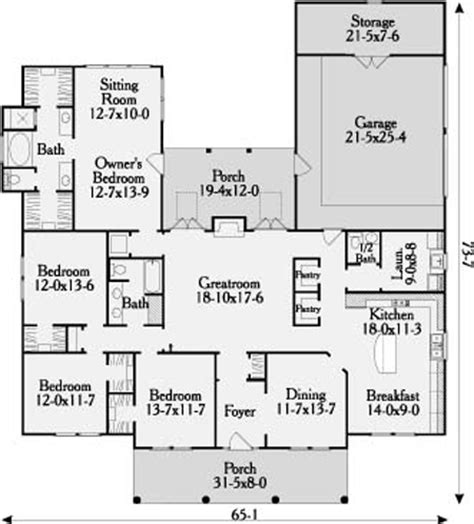 Symmetrical House Plans by Longmeadow 3647 4 Bedrooms And 2 Baths The House Designers