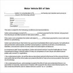 bill of sale template word sle vehicle bill of sale 13 free documents