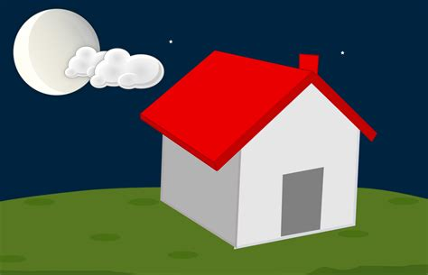 images house architecture night moon cloud