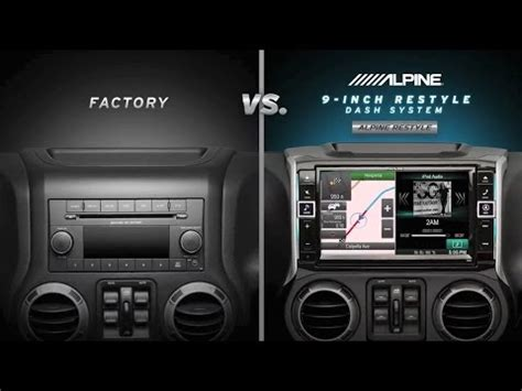 dash system alpine 9 inch restyle dash system for jeep wrangler