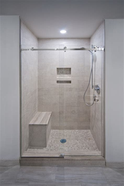 Beach House Contemporary Bathroom Other Metro By New York Shower Door