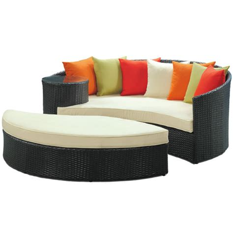 outdoor daybed with ottoman resort living is easy with lexmod taiji outdoor rattan