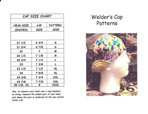 6 panel welding caps one size fits all 100 cotton pdf welder s hat cap pattern for 6 panel short by