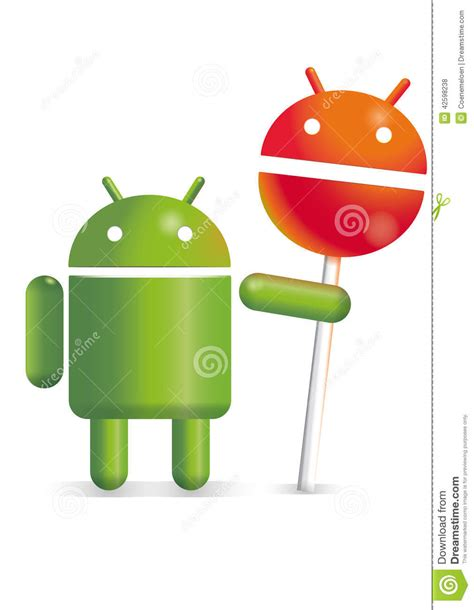 lolipop android basic android with android lollipop editorial stock photo image 42598238