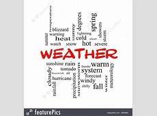 Signs And Info: Weather Words - Stock Illustration ... Free Clip Art Weather Pictures