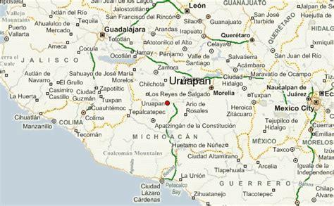 de michoacan mexico map uruapan weather forecast