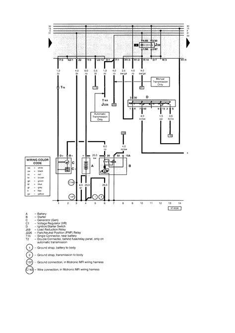 repair guides main wiring diagram equivalent  standard equipment cabrio
