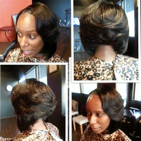 no part weave hairstyles full sew in weave with bob cut and layers yelp
