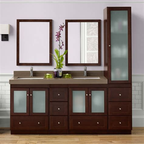 vanity with linen cabinet ronbow 080824 1 shaker 60 in bathroom vanity set