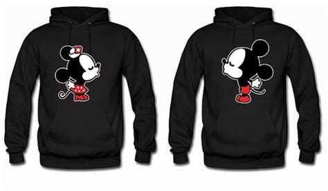 Matching Jackets For Couples Disney Matching Couples Hoodies Mickey And Minnie By