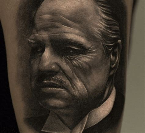 godfather tattoo designs don vito corleone from the godfather inkedmag inked