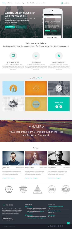cms joomla templates jm galeria responsive cms joomla template