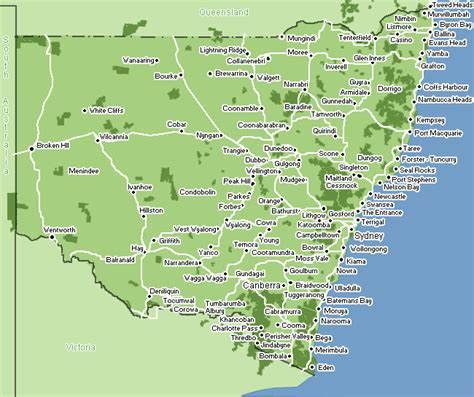 map of nsw australia map of nsw search australia