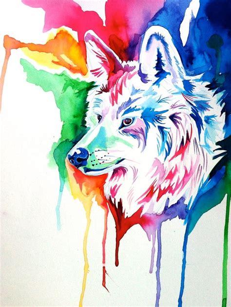 rainbow wolf mood board pinterest
