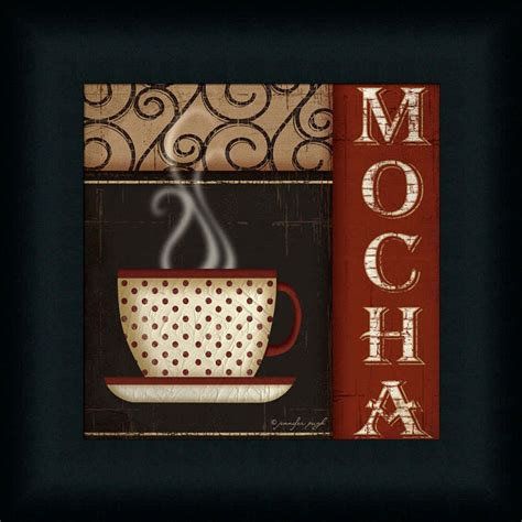 coffee wall decor mocha by pugh coffee cup sign framed print
