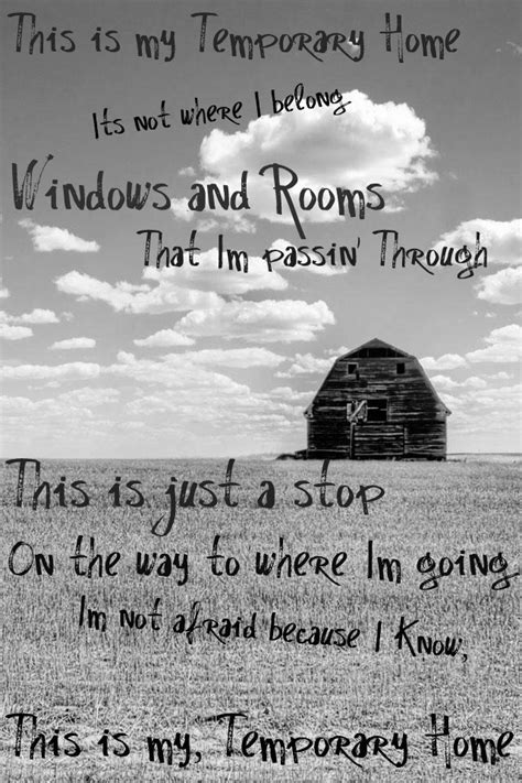 this is my temporary home words lyrics and quotes