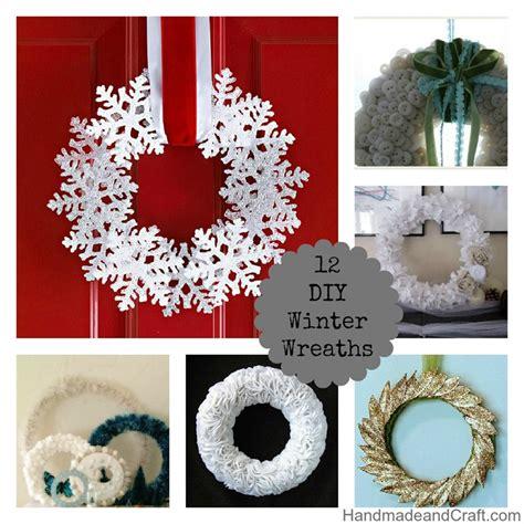 winter decorations diy 12 diy winter wreaths