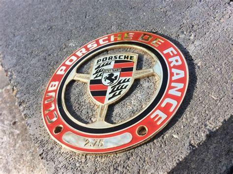 porsche car club porsche vintage enamel automobile car club badge club