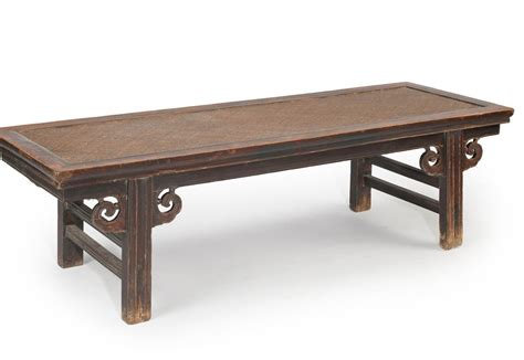 bench in chinese a chinese wooden bench with rattan seat chappell mccullar