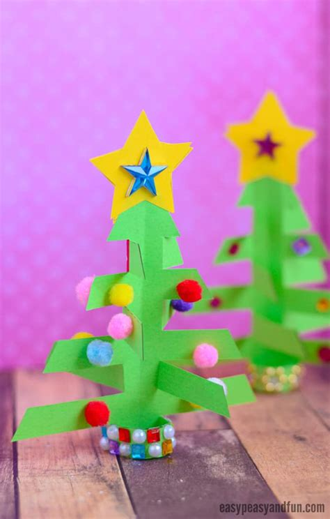 3d paper crafts for simplest 3d paper tree print or make with