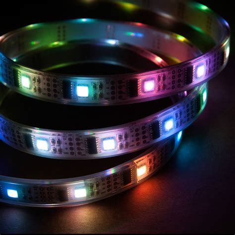 32 led m 1m rgb led light strip 5v ws2801 ip68 waterproof