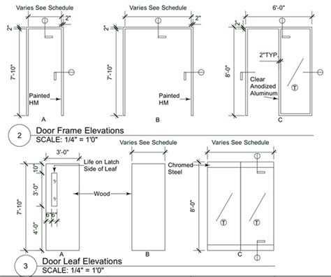 door plan elevation and section construction documents rebecca dandrea archinect