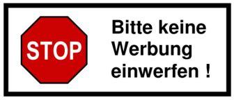 Aufkleber Keine Unadressierte Werbung by Quot Bitte Keine Werbung Quot Sticker Where Are They Obtainable