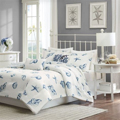 beach comforter sets king size beach house blues comforter set king size