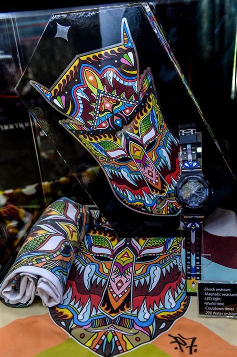 G Shock Ga 110 Graffiti Black Rubber ga 100 ga 110 g shock and siam manud collaboration