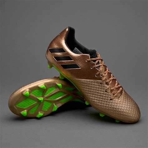 sepatu bola adidas original messi 16 2 fg copper metallic black solar green