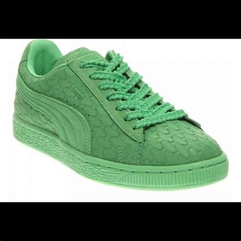 Clasic 05 D Green 10 5 shoes suede classic solange collection green geo
