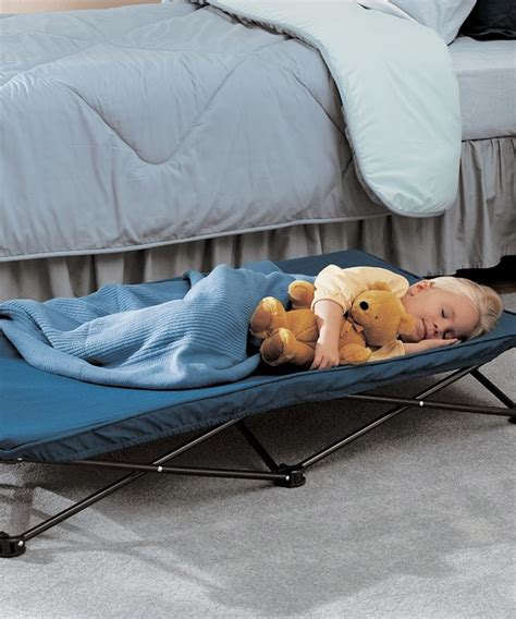 portable beds for toddlers regalo blue my cot portable toddler bed zulily