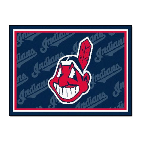 Area Rugs Cleveland by Fanmats Cleveland Indians 5 Ft X 8 Ft Area Rug 6966