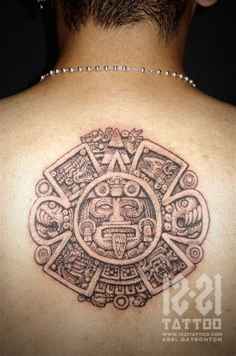 aztec calendar tribal tattoos abel gatbonton aztec calendar favorite artist