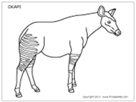 Okapi Printable Templates Coloring Pages Okapi Coloring Pages