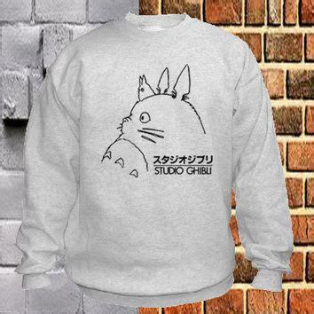 Sweater Totoro Logo shop studio ghibli sweatshirt on wanelo