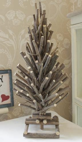 wooden real twig christmas tree crafts pinterest