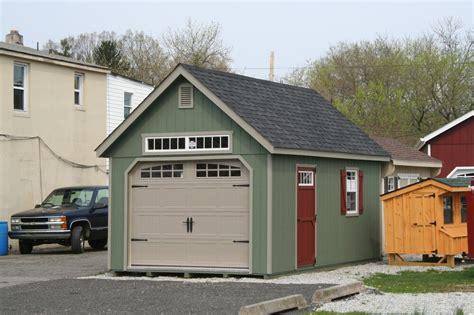 amish built   frame garage storage shed wood