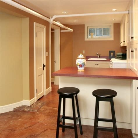 Small Basement Renovation Ideas Brilliant Basement Remodeling Ideas For Small Spaces Small Kitchen With Bar Granite Floor
