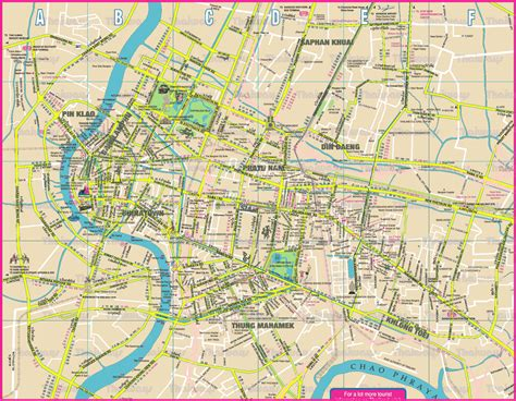 city map bangkok map detailed city and metro maps of bangkok for orangesmile