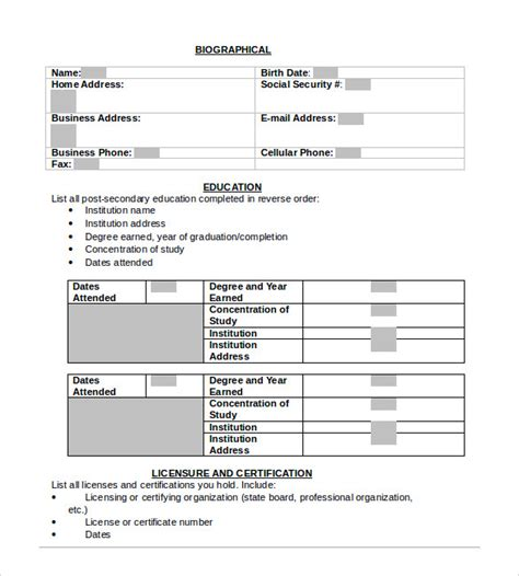 word resume templates 9 sles exles format