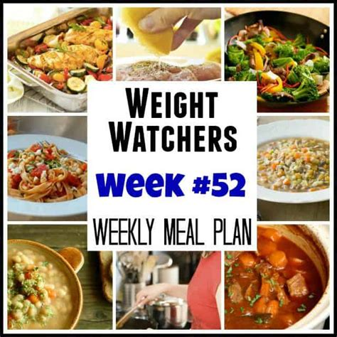 weight watchers dinner recipes easy weight watchers weekly menu 52 with recipes and points plus