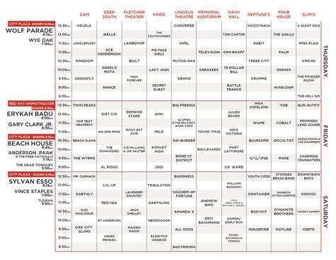 A Schedule Schedule Hopscotch Festival
