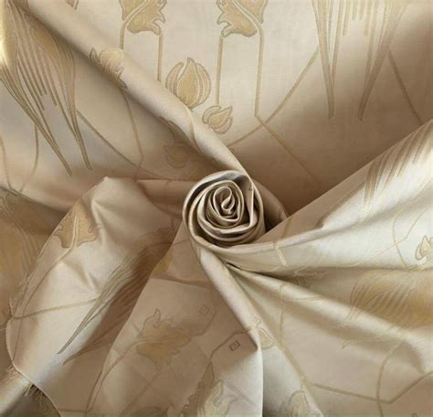 mackintosh curtain fabric 9 metres rennie mackintosh tulip floral heavy damask