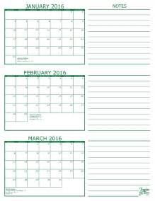 calendar template 3 months per page 3 month per page 2016 calendar with holidays printable