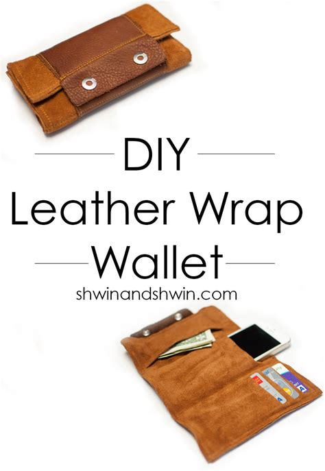 leather craft diy diy leather wrap wallet shwin and shwin