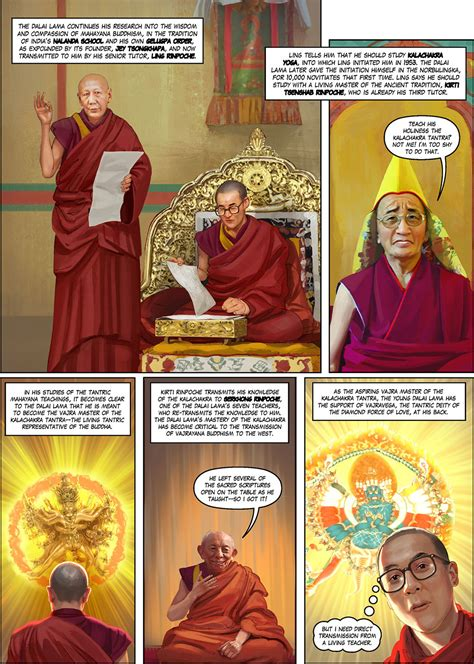 Buku Komik Graphic Novel Dalai Lama Bob Thurman Of Peace Graphic Novel Illustrated