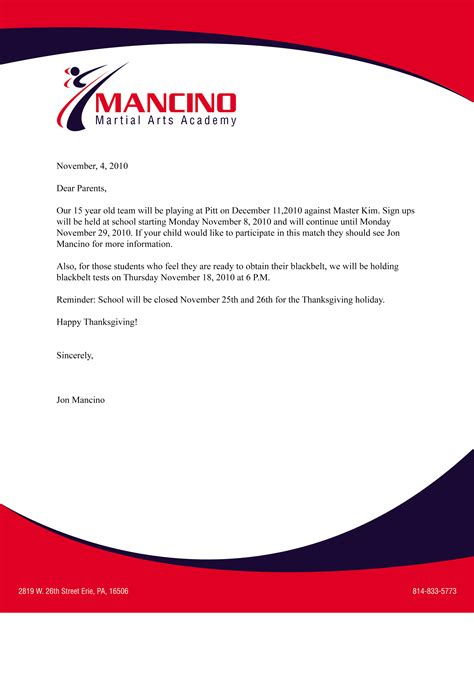 Business Letter Template Letterhead Sle Business Letter With Letterhead Sle Business Letter