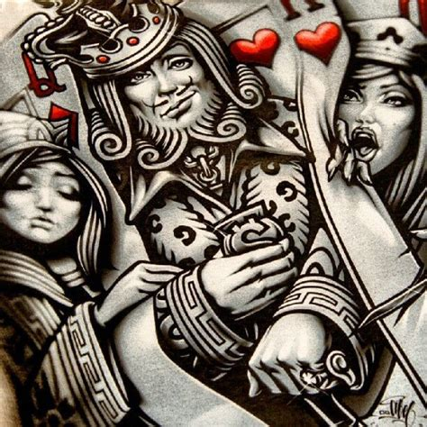 king queen tattoo bali king and queen playing card tattoo google search art